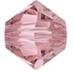 90 x 4mm Antique Pink Bicone